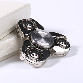 Metal Stress Relief Spinner Toy Hand Finger Gyro - Argent 6.5*6.5CM