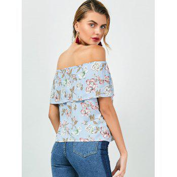 Off The Shoulder Ruffle Floral Top - XL XL