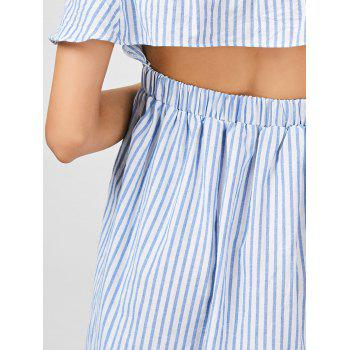 Striped Cut Out Off The Shoulder Cocktail Dress - STRIPE S