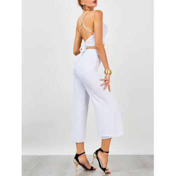 High Waist Criss Cross Backless Chiffon Suit