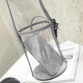Transparent Bucket Bag and Pouch Bag