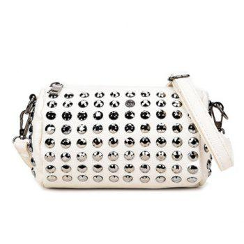 Cylinder Shaped Rivet Crossbody Bag
