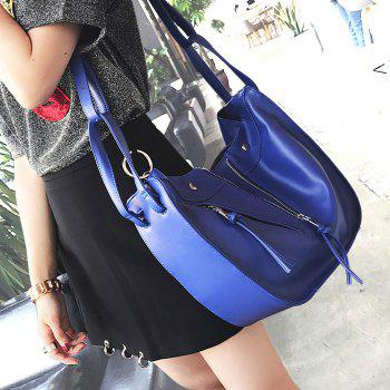 PU Leather Stitching Convertible Totes