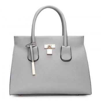 PU Leather Metal Detail Pendant Convertible Totes