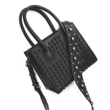 PU Leather Rivets Convertible Totes