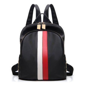 Nylon Rivet Stripe Backpack
