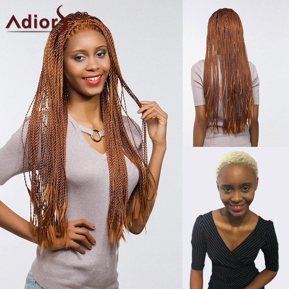 Adiors Front Lace Long Senegal Twists Braids Synthetic Wig lace box braids wig synthetic black hair