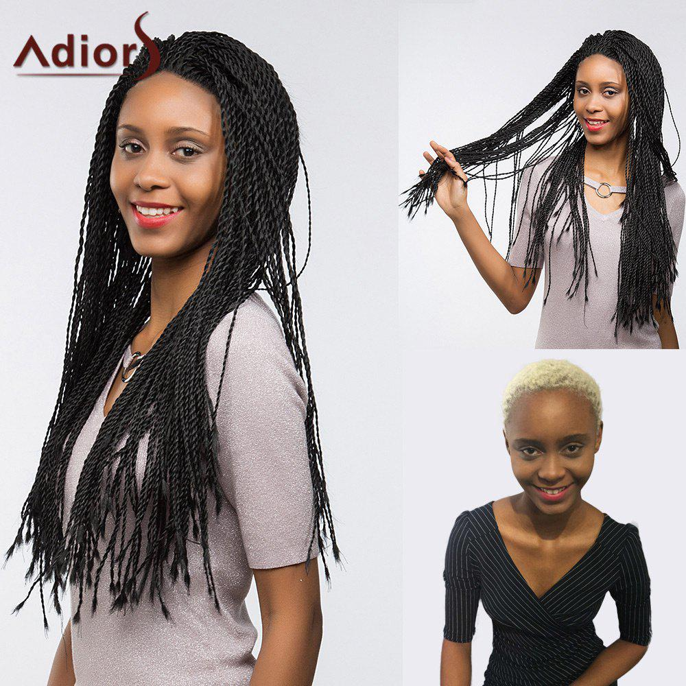 Adiors Long Senegal Twists Braids Lace Front Synthetic Wig fully hand synthetic lace front wig braided lace front wig in medium braids with high quality synthetic hair