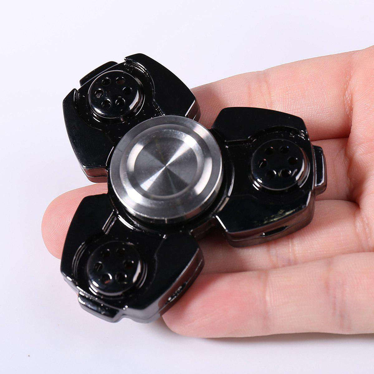 Metal Stress Relief Spinner Toy Hand Finger Gyro - Noir 6.5*6.5CM