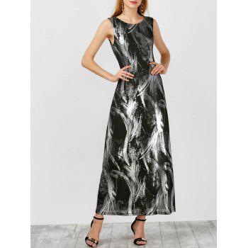 Abstract Tie Dye Maxi Tank Dress