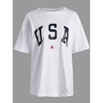 USA Graphic Star Print Long Tee