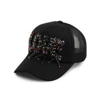 Multicolour Beads Letter Love Embellished Baseball Cap