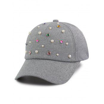 Cannetille Multicolor Beads Faux Pearl Baseball Hat