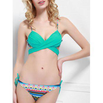 Cheeky Printed Wrap Bikini Set For Women