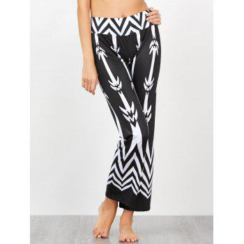 Chevron Print High Waisted Casual Pants