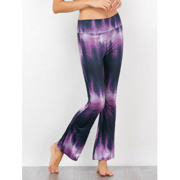 Tie-Dyed Print High Waisted Flared Pants