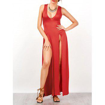 Empire Waisted High Split Nightclub Maxi Dress