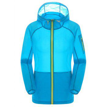 Hooded Zip Up Sun Protection Anti UV Lightweight Jacket