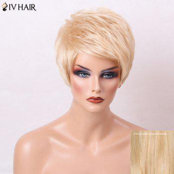 Siv Hair Short Side Bang Layered Straight Pixie Human Hair Wig