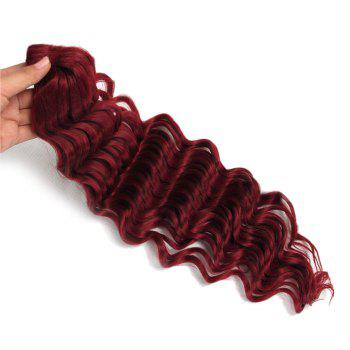 Pre Loop Wand Curl Crochet Hair Extension - WINE RED