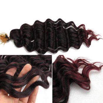 Pre Loop Wand Curl Crochet Hair Extension - BLACK AND RED BLACK/RED