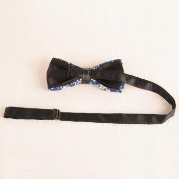 Pentagram Printing Denim Layered Bow Tie -  ROYAL