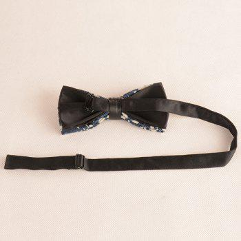 Pentagram Printing Denim Layered Bow Tie -  CADETBLUE