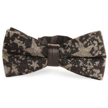 Pentagram Printing Denim Layered Bow Tie