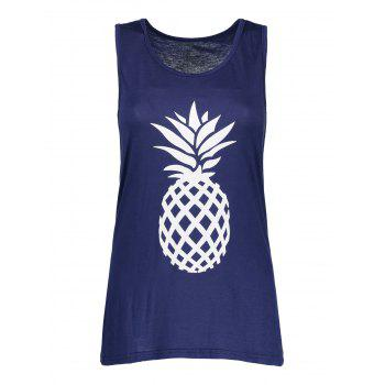 Pineapple Print Bowknot Design Tank Top