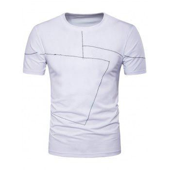 Two Tone Stitched Short Sleeve T-Shirt