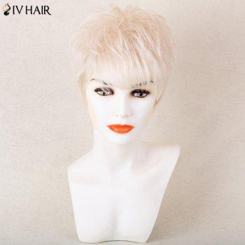 Siv Hair Shaggy Short Side Bang Silky Straight Pixie Human Hair Wig