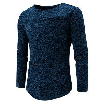 High Low Hem Space Dye Long Sleeve T-Shirt