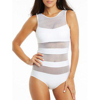 Mesh See-Through One-Piece Swimsuit