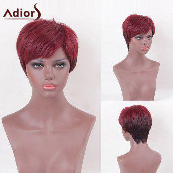 Adiors Side Bang Two Tone Colormix Short Straight Synthetic Wig