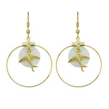 Alloy Circle Peace Dove Earrings