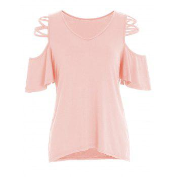 Cold Shoulder Criss Cross T-Shirt
