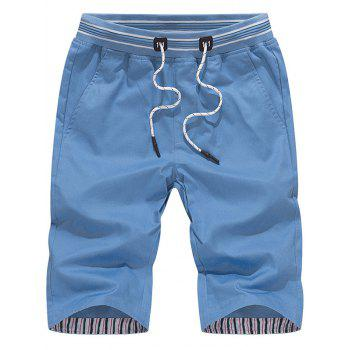 Drawstring Stripe Waistband Chino Shorts