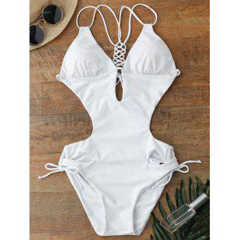 Lace Up Cut Out One Piece Swimwear