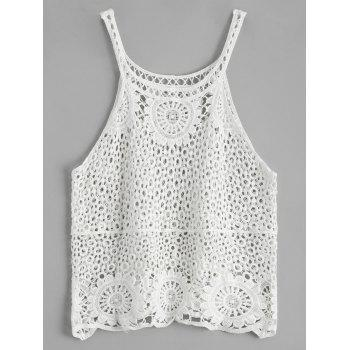 Crochet Lace See Through Tank Top