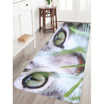 Cat Print Flannel Skidproof Bathroom Rug