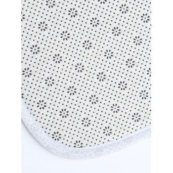 Cat Print Flannel Skidproof Bathroom Rug - WHITE THIN W16INCH*L47INCH