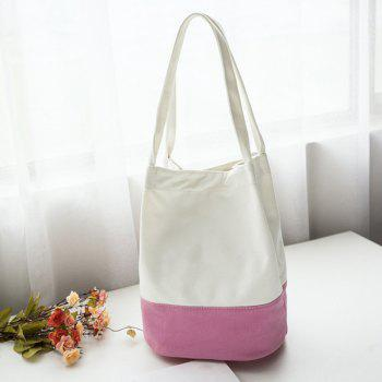 Color Block Canvas Shopper Bag