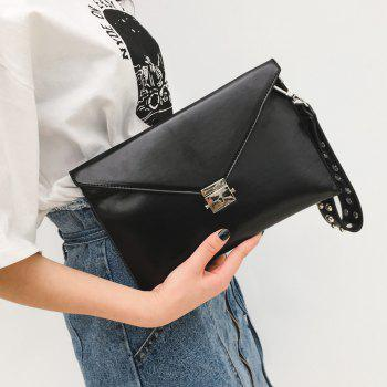 Studed Wristlet Strap Envelope Clutch Bag