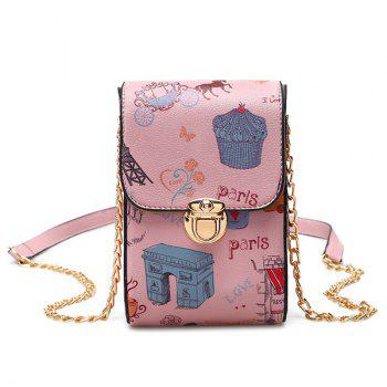 Print Chain Mini Crossbody Bag
