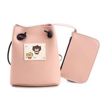 Cartoon Print Crossbody Bag with  Pouch Bag