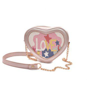 Heart Shaped Love Print Crossbody Bag