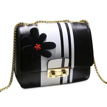 Flower Chain Color Block Crossbody Bag