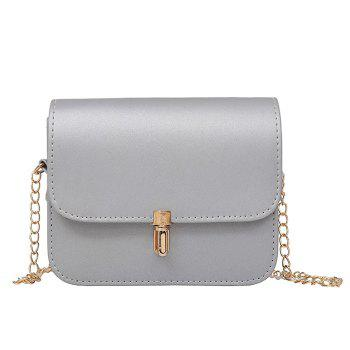 Chain Push Lock Cross Body Bag