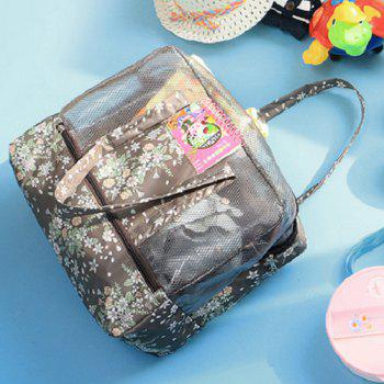 Print Mesh Panel Multifunctional Bag -  COFFEE