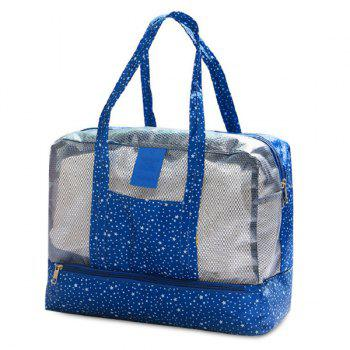 Print Mesh Panel Multifunctional Bag